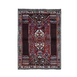 Rust Red New Persian Shiraz Vase Design Full Pile Hand