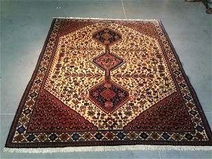 AUTHENTIC PERSIAN YALAMEH RUG 5x6.5