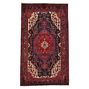 Pure Wool Persian Nahavand Handmade Full Pile Oriental