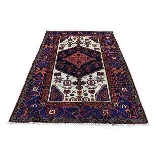 New Persian Hadaman Hand-Knotted Pure Wool Oriental Rug