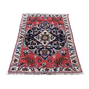 Persian Karabakh Pure Wool Hand-Knotted Oriental Rug