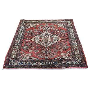 Vintage Bohemian Persian Mahal Pure Wool hand-Knotted