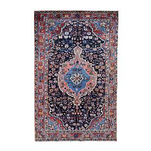 Hand Knotted Vintage Persian Hamadan Pure Wool Full