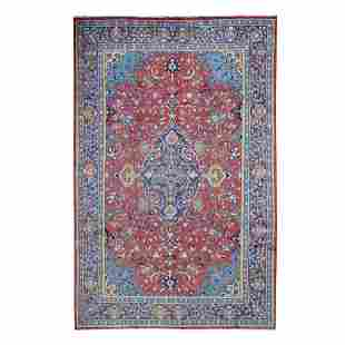 Red Vintage Persian Mahal Good Condition Hand Knotted