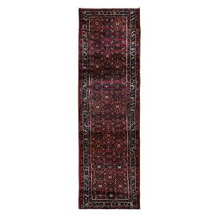 Red New Persian Hamadan Fish Design Wool Hand Knotted