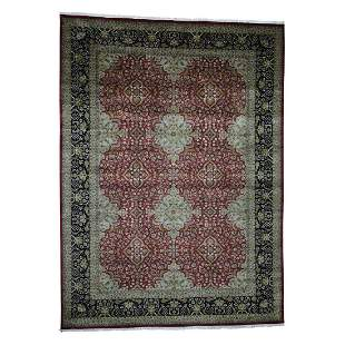 300 Kpsi Kashan Revival New Zealand Wool Hand-Knotted