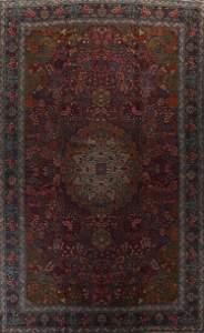 Pre-1900 Antique Vegetable Dye Tabriz Alabaf Persian