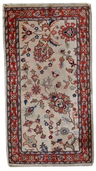 Handmade vintage Pakistani Lahore rug 2.5' x 4.6' (
