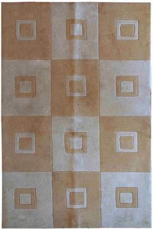 Handmade vintage Chinese Modern rug 3.9' x 5.9' (120cm