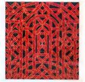 Limited Edition Valerie Jaudon Silkscreen Print (1981)