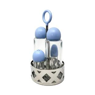 Blue Cruet Set by King Kong for Alessi
