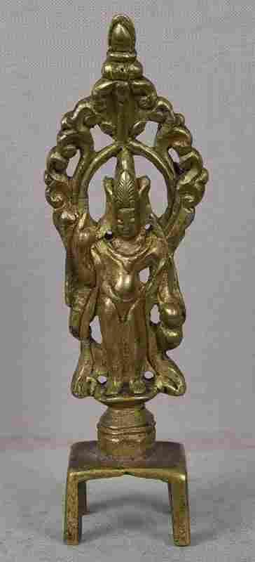 18c gilded Chinese bronze Bodhisattva Avalokiteshvara