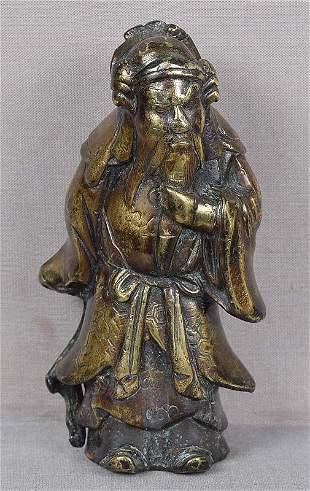 18/19c Chinese bronze GUANDI God of war