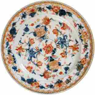 Chinese Imari Kangx Floral Plate Kangxi Period