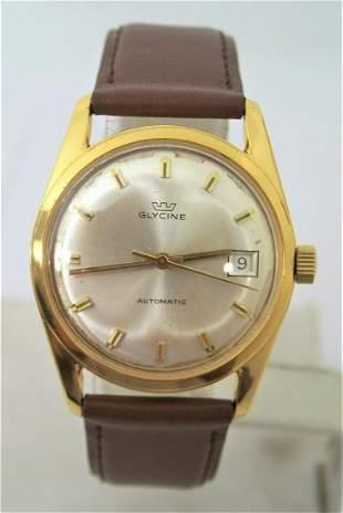 Vintage Gold Swiss GLYCINE 17J Automatic Watch 1960s