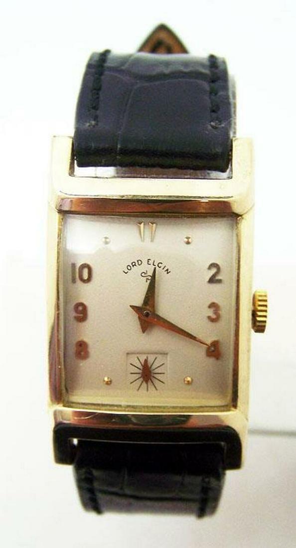 Vintage Mens 14k GF LORD ELGIN 21J Winding Watch 1940s