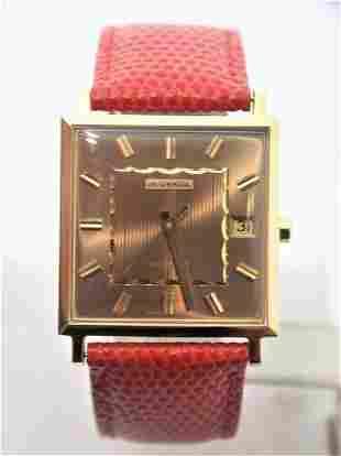 NOS 18K Gold JUVENIA MACHO Ladies 25J AUTOMATIC Watch
