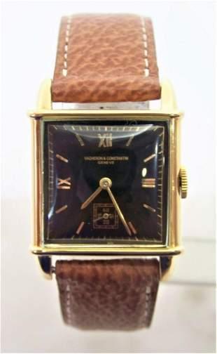 Vintage 18k Gold VACHERON CONSTANTIN Mens Winding Watch
