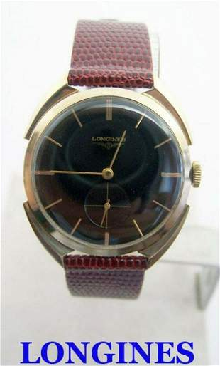 Vintage 14k LONGINES Mens Winding Watch c1956 BEAUTIFUL