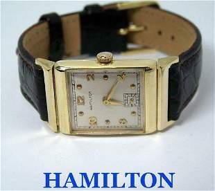 Vintage 14k Gold HAMILTON Winding Watch 1950's Cal 982*