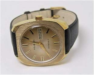 Vintage HELBROS Winding DAY DATE Watch 1970s Cal.57*
