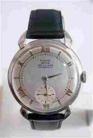 Vintage S/Steel DOGMA PRIMA 15J Winding Watch c.1940's*