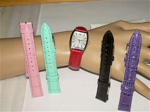 Belair Ladies Watch Gift Set; M.O.P Face With 5