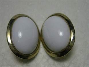 Vintage 1970's/80's Goldtone Large Oval Clip Earrings