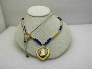 Vintage Native American Horse Hair Braided Necklace,