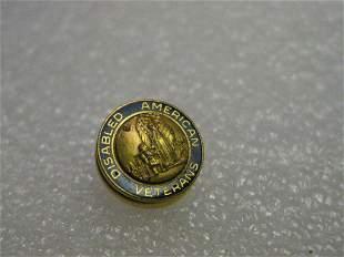 Disabled American Veterans Goldtone Blue Enameled Lapel