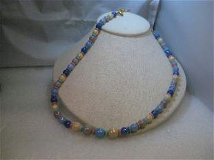 """Vintage Joan Rivers 30"""" Glass Beaded Necklace, plus 4"""""""