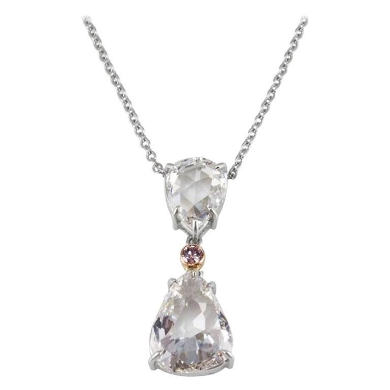 GIA Certified 1.03 Carat Pear Shape Rose Cut Diamond
