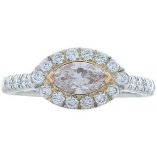 GIA Certified 0.50 Carat Marquise Fancy Light Pink
