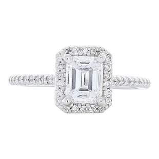 GIA Certified 1.04 Carat Emerald Cut Diamond Cocktail