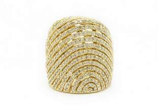 Estate Sonia B. Contemporary Yellow Gold and Diamond