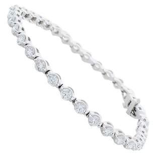 3.85 Carat Total Diamond Tennis Bracelet in 14 Karat