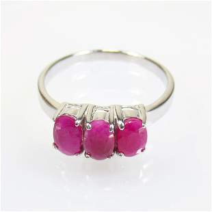 2.78 g 925 Sealed Silver Natural Ruby Ring
