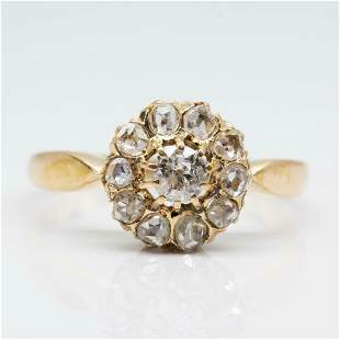 Victorian 18k Gold Diamond Ring