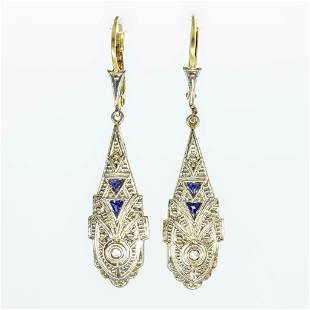 Antique Art Deco 18k Yellow and White Gold Diamond and