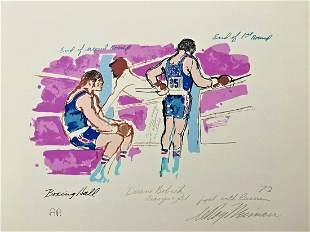 LEROY NEIMAN + OLYMPICS 1972 + HAND SIGNED SERIGRAPH +