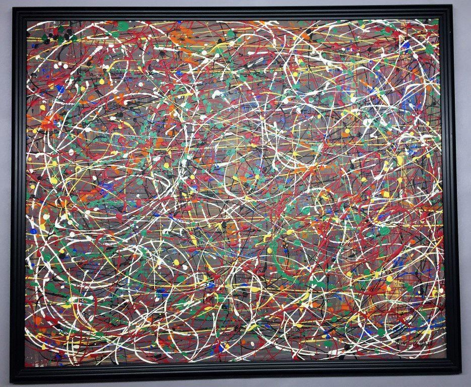 In the syle of/ After Jackson Pollock
