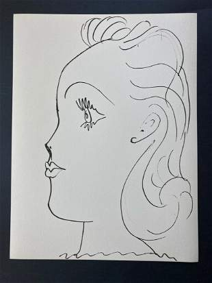 Pablo Picasso AFTER 1957 Lithograph 26/266 + Young Lady