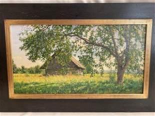 Oil on canvas Russian painter Igor Barkhatkov (1953