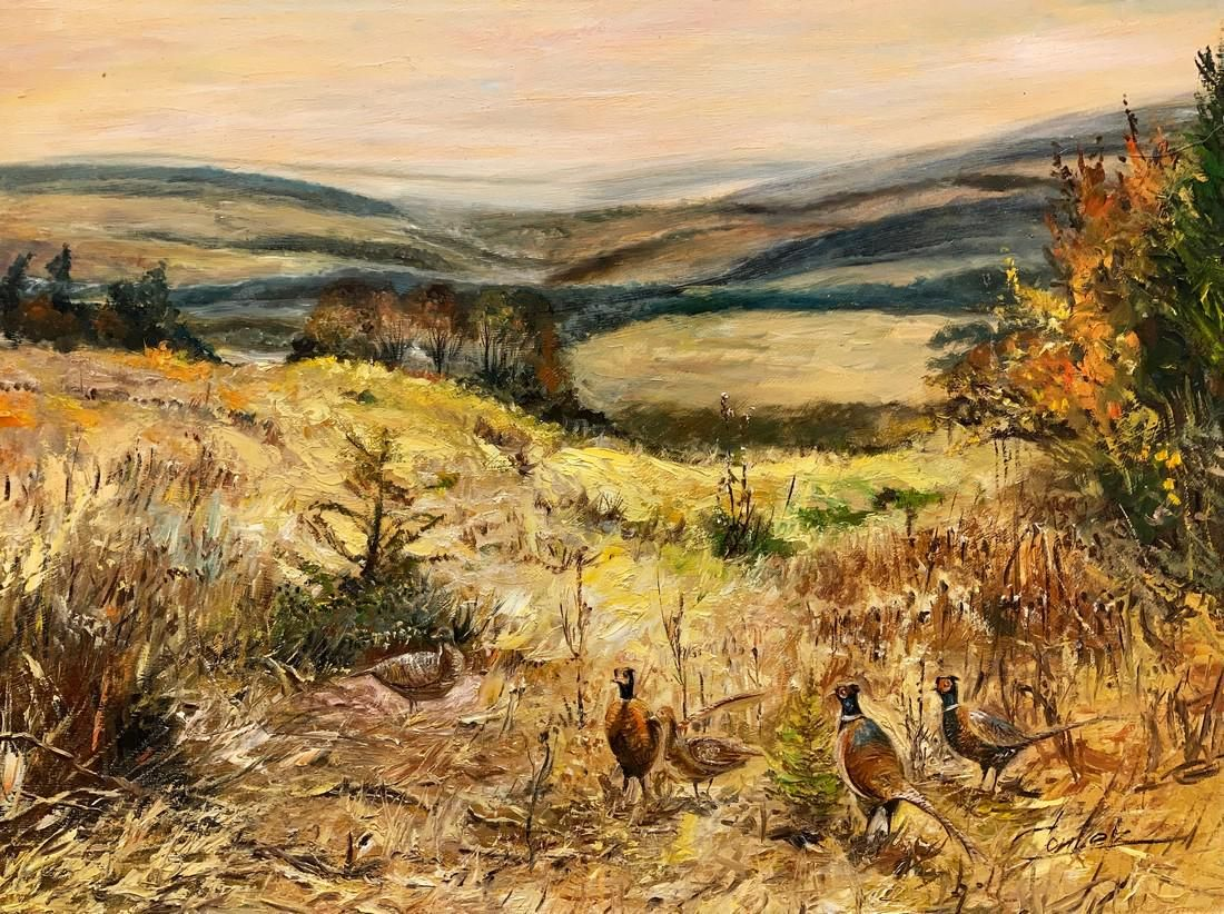 Cortez - Pheasants with chickens