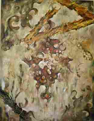 """Persian Rug ,oil painting, 72"""" x 54"""""""