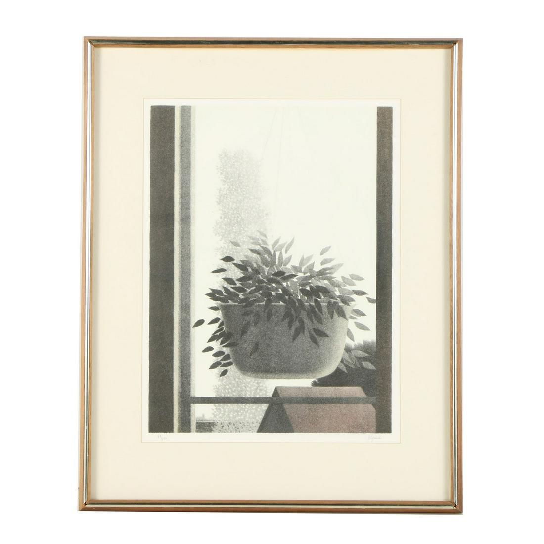 Window with Suspended Plant by Robert Kipniss (1931 - )