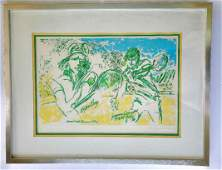 LEROY NEIMAN ORIGINAL 4 COLOR STEEL ETCHING HAND SIGNED