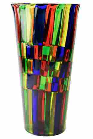 Murano glass vase pezzato