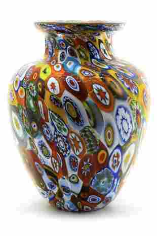 Amedeo Rossetto - Murano glass vase murrine signed