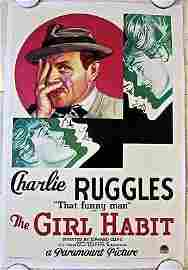The Girl Habit - Charlie Ruggles (1931) US One Sheet